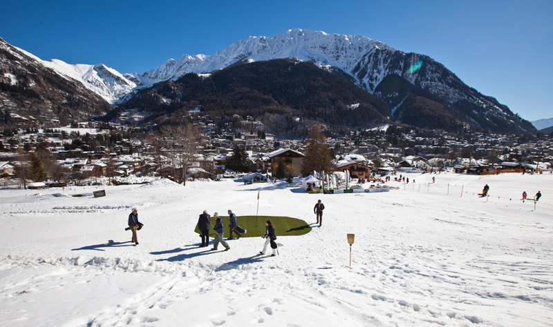 s Piguet Snow Golf Exhibition